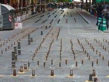 O Falles na cidade de Valência fotos de stock