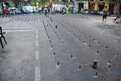 O Falles na cidade de Valência imagem de stock royalty free