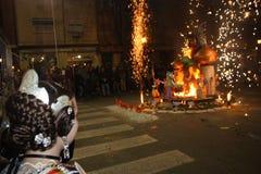 O Falles na cidade de Valência imagens de stock royalty free