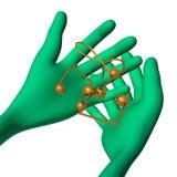 O fantoche 3d verde tem notas pequenas ilustração royalty free