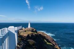 O farol da lança do cabo em Terra Nova, Canadá Fotos de Stock Royalty Free