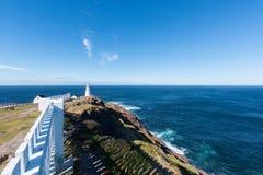 O farol da lança do cabo em Terra Nova, Canadá Fotografia de Stock Royalty Free