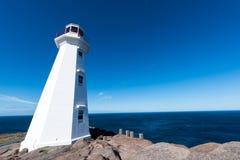O farol da lança do cabo em Terra Nova, Canadá Imagens de Stock Royalty Free