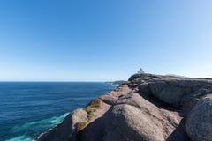 O farol da lança do cabo em Terra Nova, Canadá Fotos de Stock