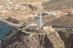 O farol de Cabo de Gata, AlmerÃa, Espanha Imagem de Stock