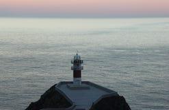 O farol de Ortegal do cabo, Galiza, Espanha Imagem de Stock