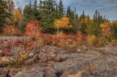 O farol de Splitrock é um parque estadual popular durante todas as estações Foto de Stock