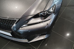 O farol do carro, Lexus novo É 2013 Fotografia de Stock