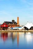 O farol do outeiro de sete pés no porto interno de Baltimore imagens de stock royalty free