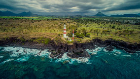 O farol na ilha tropical de Maurícias Fotos de Stock