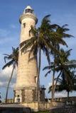 O farol no bastião de Utrecht do ponto em Galle em Sri Lanka fotografia de stock royalty free
