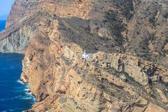 O farol no Punta de l'Albir Altea, Alicante, costa da Espanha Foto de Stock