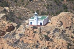 O farol no Punta de l'Albir Altea, Alicante, costa da Espanha Fotos de Stock Royalty Free