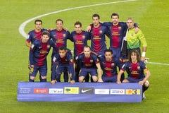 O FC Barcelona team Imagem de Stock Royalty Free