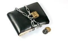 O fechamento Chain empacota acima a carteira Imagens de Stock