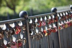 O fechamento do amor Imagem de Stock
