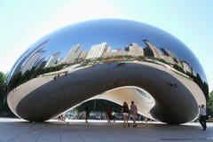 O feijão em um dia claro em Chicago, IL, EUA Fotos de Stock Royalty Free