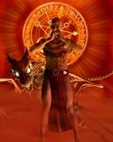 O feiticeiro - meditação ilustração do vetor
