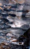 Luz na água ilustração do vetor