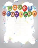 O feliz aniversario Balloons a bandeira Imagem de Stock