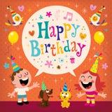 O feliz aniversario caçoa o cartão Imagens de Stock Royalty Free