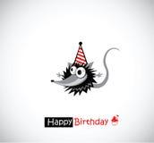 O feliz aniversario carda o rato Foto de Stock