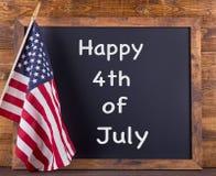 4o feliz do sinal de julho Fotografia de Stock Royalty Free