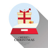 O Feliz Natal ajustou-se Fotografia de Stock Royalty Free