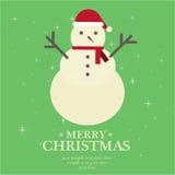 O Feliz Natal ajustou-se Foto de Stock