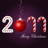 O Feliz Natal carda, 2011 Fotografia de Stock Royalty Free