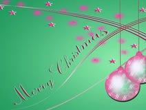 O Feliz Natal carda com glitter e estrelas Fotos de Stock Royalty Free