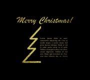 O Feliz Natal carda com texto Ilustração do vetor Imagem de Stock Royalty Free
