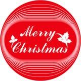 O Feliz Natal carda ou molde Projeto de rotulação ilustração stock