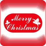 O Feliz Natal carda ou molde Projeto de rotulação ilustração royalty free