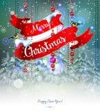 O Feliz Natal e felizes desbastam o ano Imagem de Stock Royalty Free