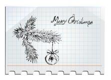 O Feliz Natal entrega desenhado Imagem de Stock Royalty Free