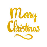 O Feliz Natal entrega a rotulação tirada Imagens de Stock Royalty Free