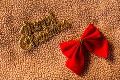 O Feliz Natal exprime com curva na vida do Natal da tela ainda Imagens de Stock