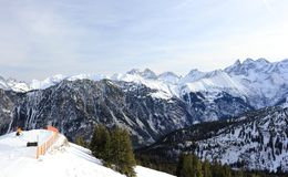 O Fellhorn no inverno Cumes, Alemanha Imagens de Stock Royalty Free
