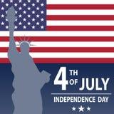 O feriado é o dia da independência dos E.U. Feriado o 4 de julho ilustração do vetor