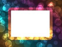 O feriado abstrato do bokeh ilumina o fundo do frame Imagens de Stock