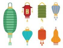 O feriado chinês do papel da luz da lanterna comemora a ilustração gráfica asiática do vetor da lâmpada da celebração Imagem de Stock Royalty Free