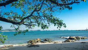 O feriado do curso da praia da paisagem relaxa o recurso do fundo fotografia de stock royalty free