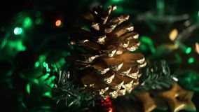 O feriado ilumina o vídeo do fundo video estoque
