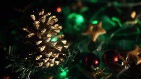 O feriado ilumina o vídeo do fundo filme