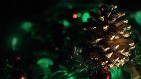 O feriado ilumina o vídeo do fundo vídeos de arquivo