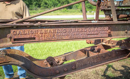 O ferro original de Galion trabalha o logotipo Number pre modelo Imagem de Stock Royalty Free