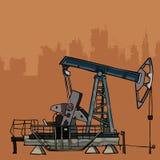 O ferro velho o equipamento para a indústria petroleira Fotografia de Stock Royalty Free