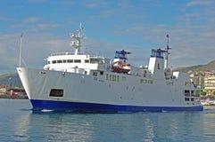 O ferryboat à ilha de Ventotene Itália Fotos de Stock Royalty Free