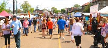 O festival anual quadrado dos lagostins de Overton Imagem de Stock Royalty Free